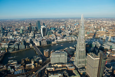 Aerial view of Borough Market and The Shard, London