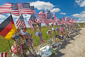 Folk Art Angels and Flags at Flight 93 Memorial
