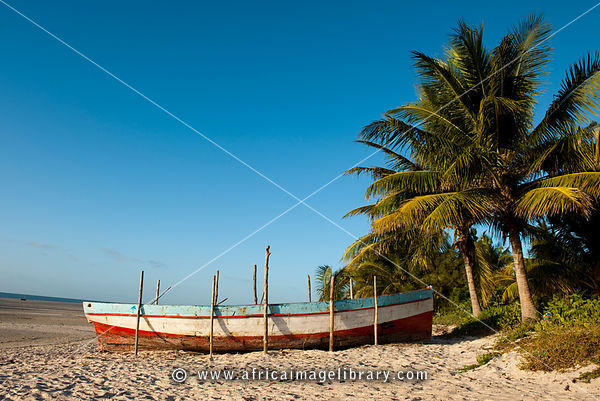 Dhow on the beach, Vilanculos, Mozambique