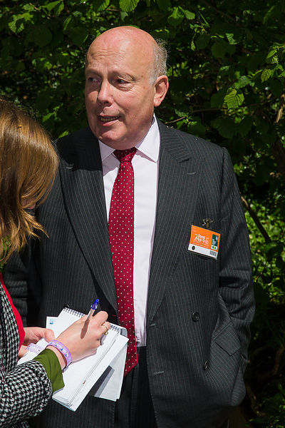 Julian Fellowes, actor, novelist, film director and screenwriter attended the press day at Chelsea Flower Show 2015