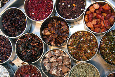A spice merchant in Shyambazar, Kolkata, India.