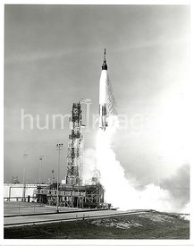 In this Project Mercury test, a spacecraft booster by a modified Atlas was launched from Cape Canaveral, Florida.