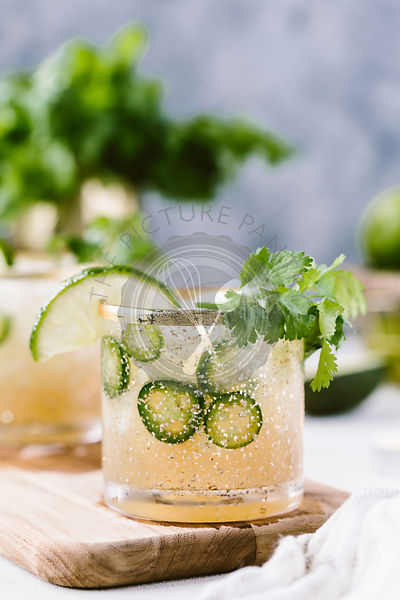 Spicy jalapeno margaritas