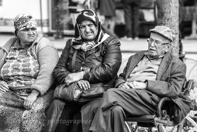 Grimacing women and sleeping man, Istanbul