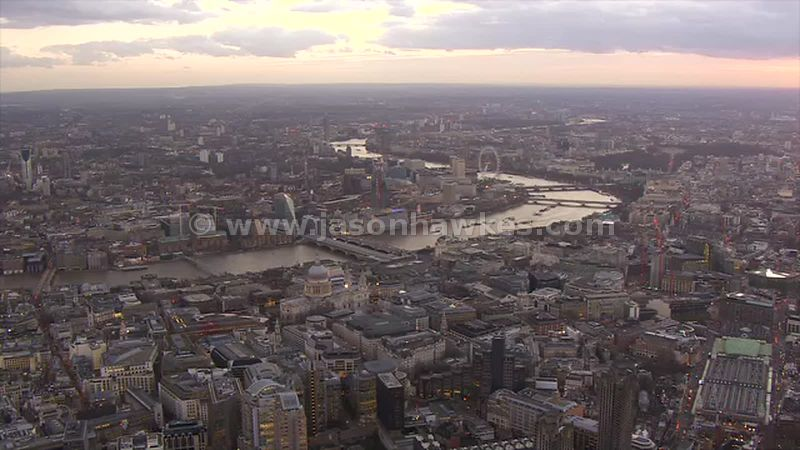 Aerial footage of St Paul's Cathedral, London
