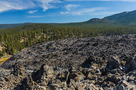 Big Obsidian Flow in Newberry National Volcanic Monument
