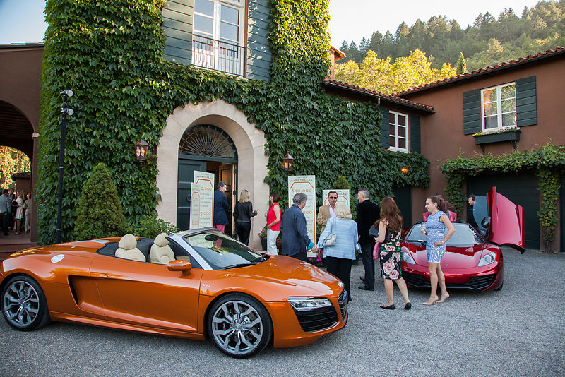 A couple of the hot cars featured during Auction Napa Valley were on display at the Staglin home to tempt top bidders.