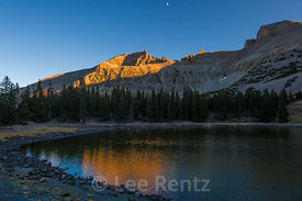 Stella Lake and Jeff Davis Peak in Great Basin National Park