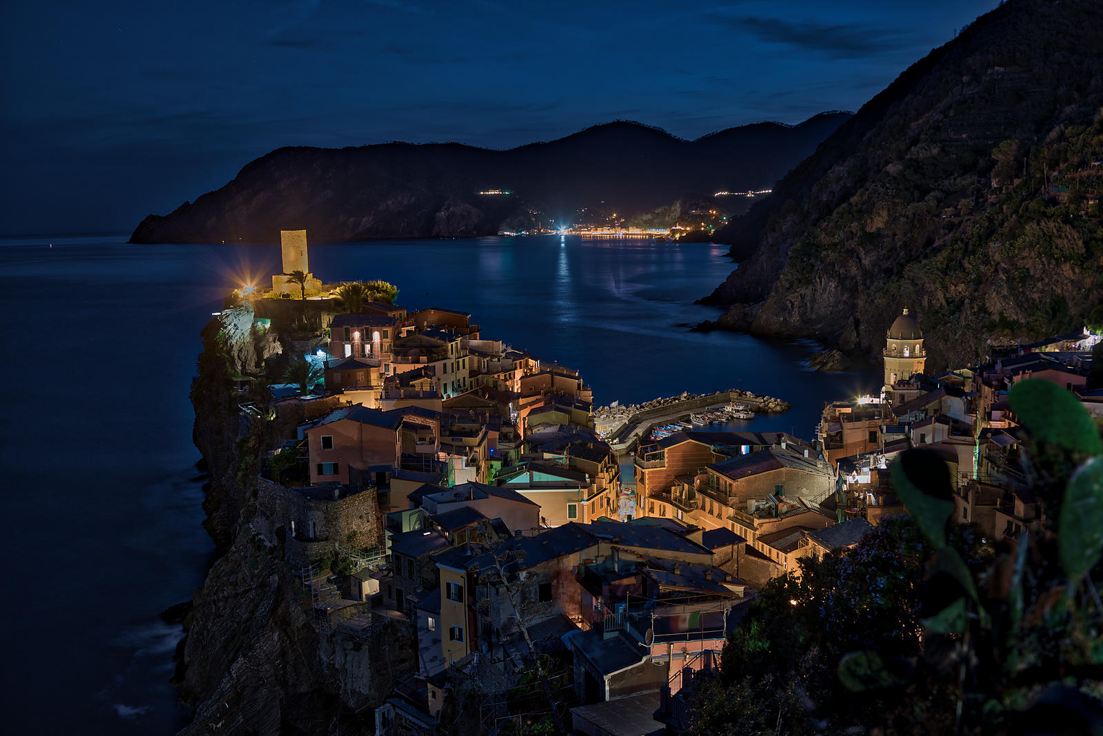 Town of Vernazza in the Cinque Terre region of Italy