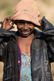 Girl from a low income family in a remote part of the Pushkar desert, Kishanpura Goyla village, Rajasthan, India