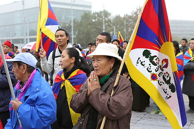 Demonstration of Tibetans