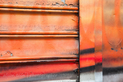 Graffiti on rolling shutter