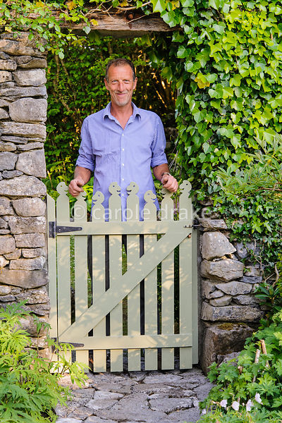 Carl Wright, creator of Caher Bridge Garden, Fanore, Ireland