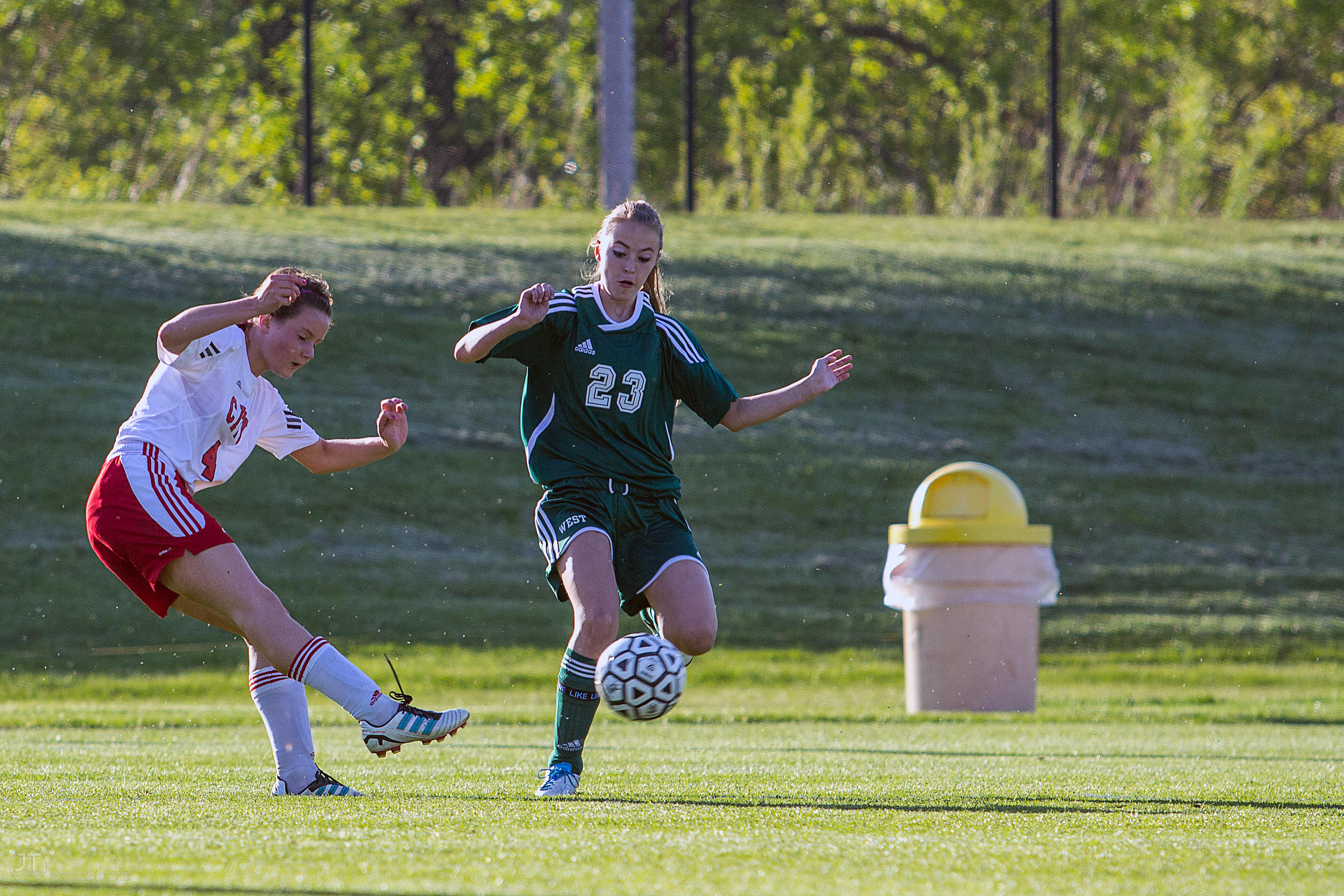 Iowa City West vs Iowa City High Girls Soccer, Iowa Soccer Stadium, April 24th, 2012