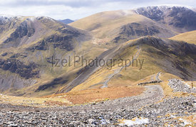 Crag Hill and Grasmoor from Grisedale Pike in the Lake District