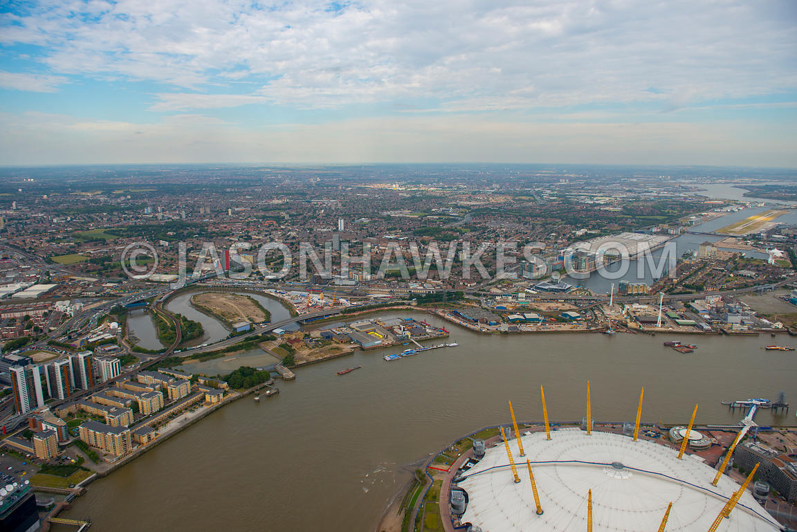 London. Aerial view of Newham