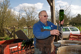 Artisanal cider making in Normandy, France