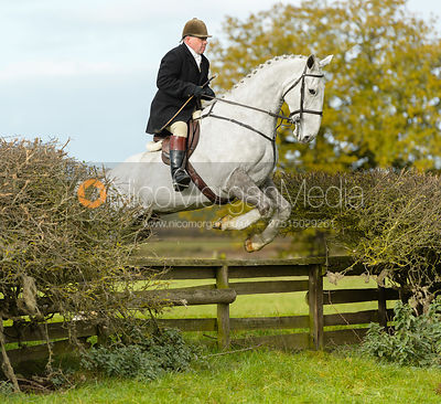 Graham Smith jumping a fence near Gartree Covert