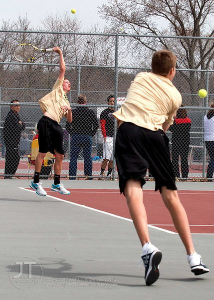 Iowa City West vs Linn-Mar Mens Tennis, April 19, 2014