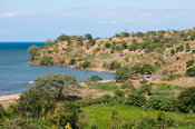 Village on the shore of Lake Malawi, Chilumba, Malawi