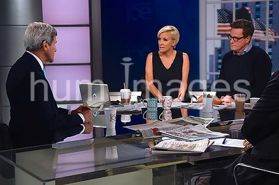 Secretary Kerry Talks About World Affairs With 'Morning Joe' Hosts Brzezinski and Scarborough in New York