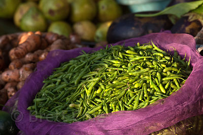Peas at the Savanchi market in Jodhpur, Rajasthan, India