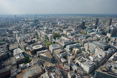 Aerial view over St Paul's, London