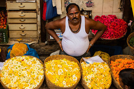'Dadar Flower Market' Mumbai India: Photographer: Neil Emmerson 2015. I have photographed a number of flower markets around t...