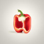 Red Pepper Cross-section