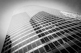 Chicago Curved Building in Black and White