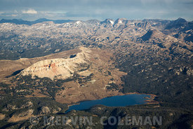 719  Aerial of Beartooth Butte and Lake