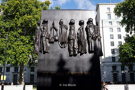 Monument to the Women of World War II in London, England.
