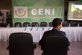 Presidential candidate Andry Rajoelina attends the results proclamation ceremony at the CENI (Independent National Electoral ...
