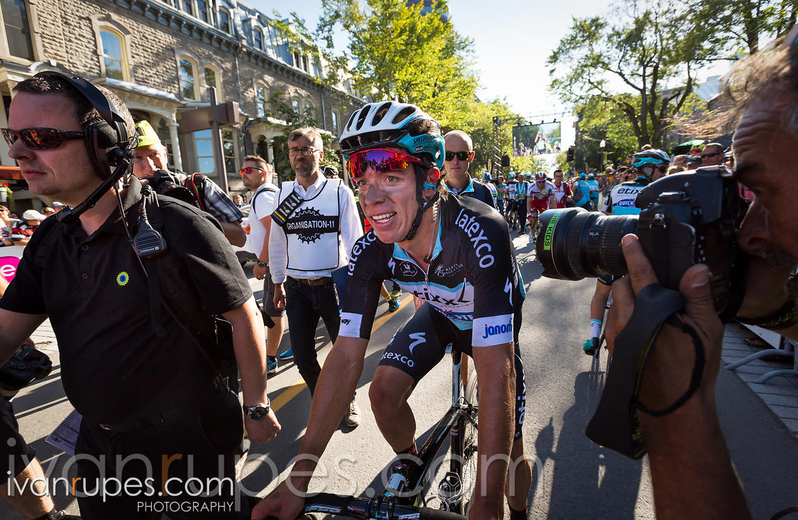 Rigoberto Uran (Etixx Quick Step) just won Grand Prix Cycliste de Québec; September 11, 2015