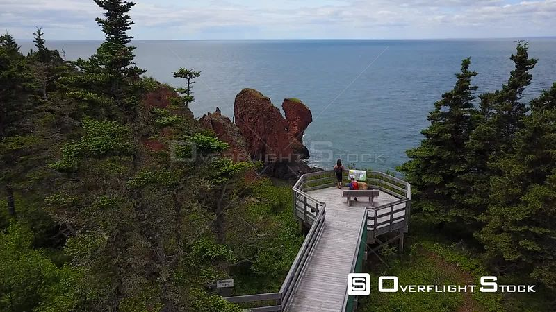 Bay of fundy Summer Rocks Cliffs Look Out Nova Scotia