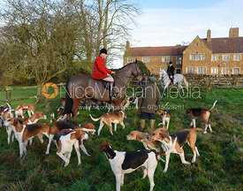 John Holliday At the meet. The Belvoir Hunt meet at Waltham House 22/12