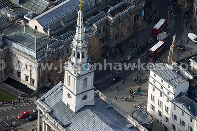 Aerial view of church at .St Martin-in-the-Fields