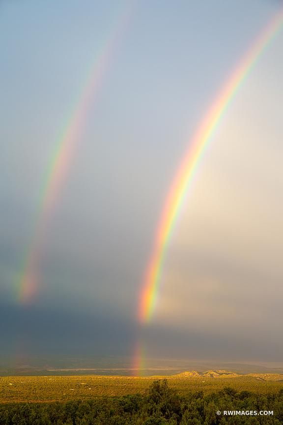 DOUBLE RAINBOW ENCHANTING LIGHT NORTHERN NEW MEXICO