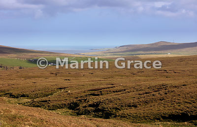 Hermaness National Nature Reserve, Unst, Shetland, looking east to Burra Firth