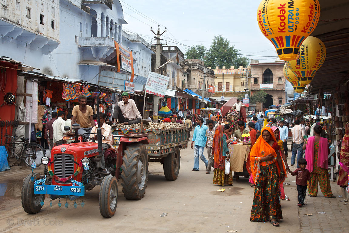 Street scene in Pushkar, Rajasthan, India