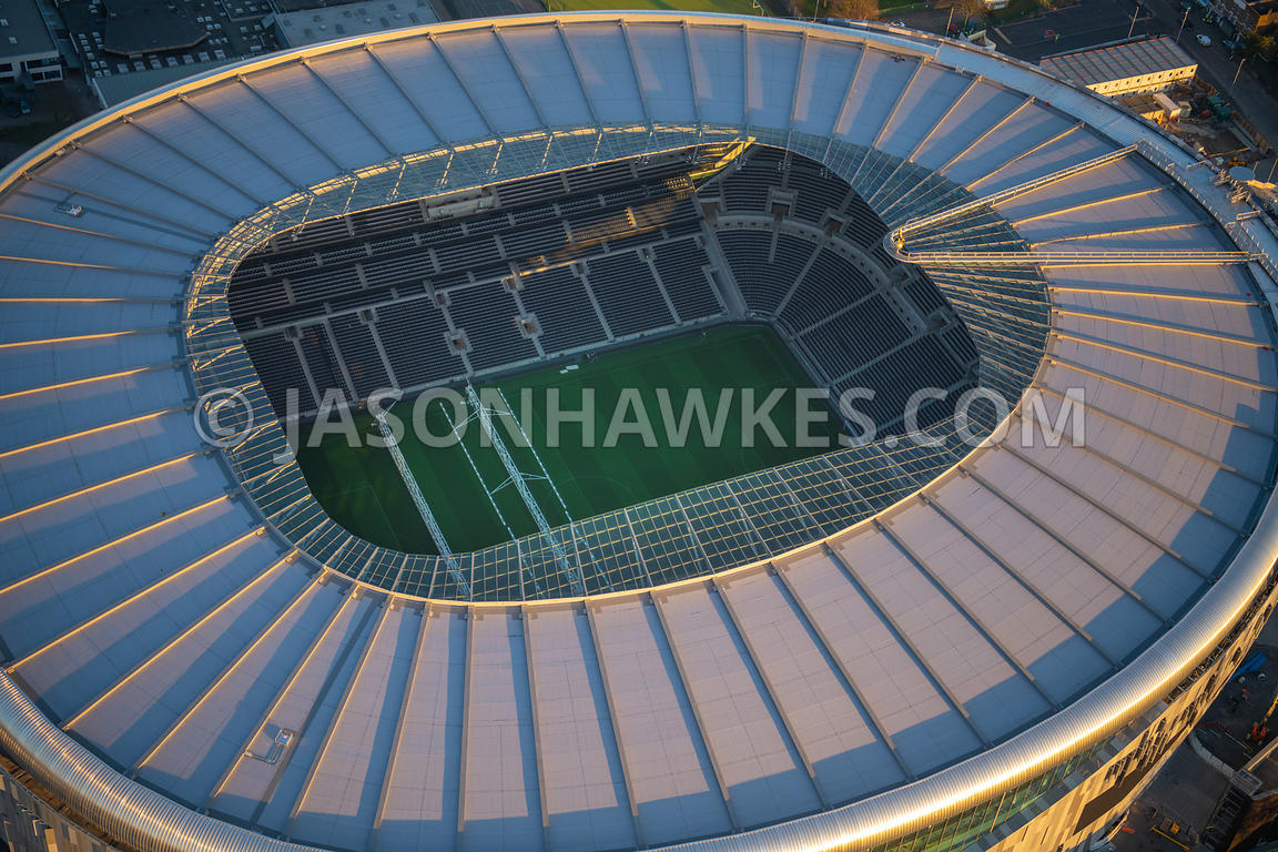 Aerial view of Tottenham Hotspur football Stadium, Tottenham, London