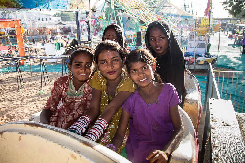 Every year we take our students to the carnival at the Pushkar Camel Fair