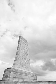 WRIGHT BROTHERS MEMORIAL KILL DEVIL HILLS OUTER BANKS NORTH CAROLINA BLACK AND WHITE