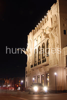 Bass Hall in Fort Worth, Texas (night)