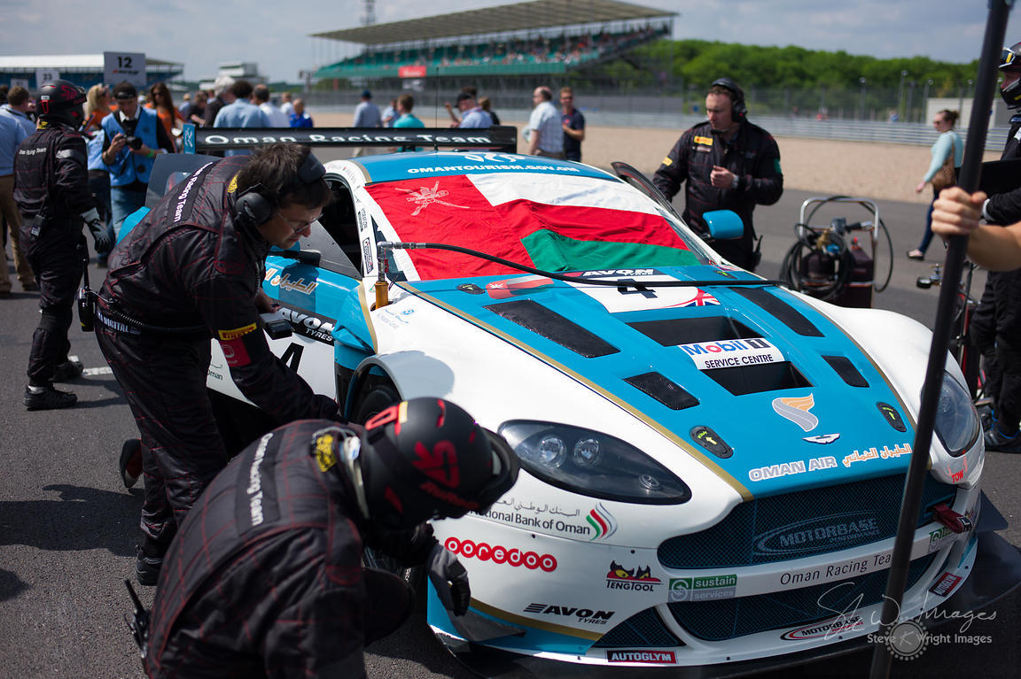 On the starting grid with Oman Racing and Aston Martin, at the Silverstone 500 - the third round of the British GT Championsh...