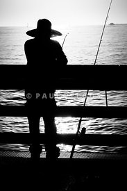 Newport Beach Fisherman Pier Fishing Picture