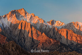 Morning Sun on Lone Pine Peak