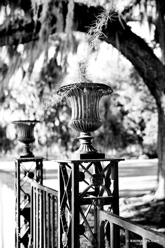 DESTREHAN PLANTATION NEAR NEW ORLEANS LOUISIANA BLACK AND WHITE VERTICAL