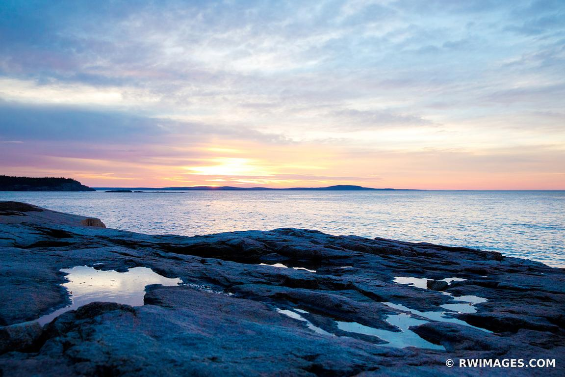 SUNRISE OTTER CLIFF ACADIA NATIONAL PARK MAINE COAST NEW ENGLAND LANDSCAPE