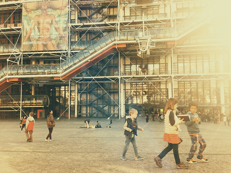 Molly, Louis and Jacob; Centre Georges Pompidou.